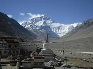 Mt Everest North face, from Tibet