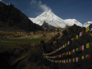 Mt. Manaslu view from Lho